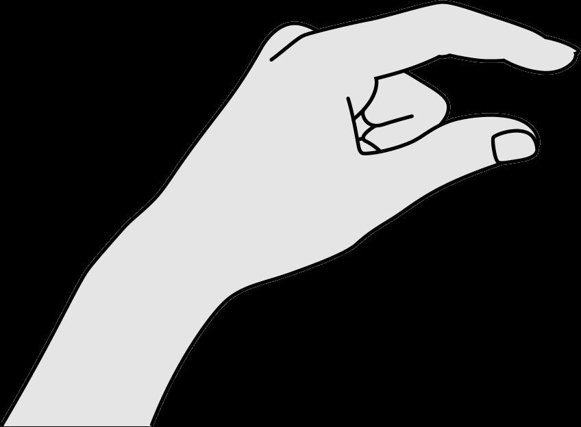 Drawn Hand Finger Pinch